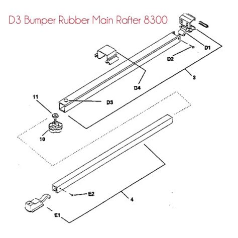 a e dometic awning parts bumper rubber to suit main rafter dometic a e 8300 awning