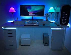 desk led best 25 gaming setup ideas on pc gaming setup