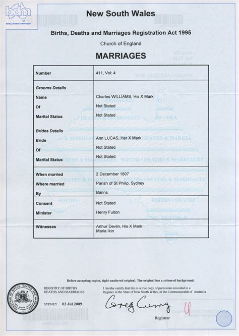 Marriage Records Nsw Form New Application For Birth Certificate Nsw Australia