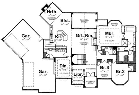 four car garage house plans house 24322 blueprint details floor plans