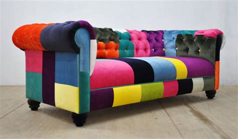 Patchwork Chesterfield - chesterfield patchwork sofa color waterfall