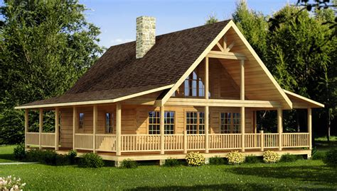 Cabin House Plans With Photos Woodplans