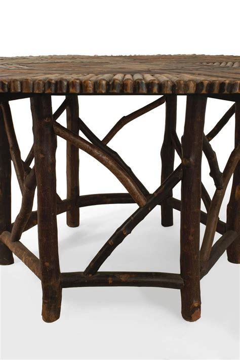american adirondack style twig dining table at 1stdibs