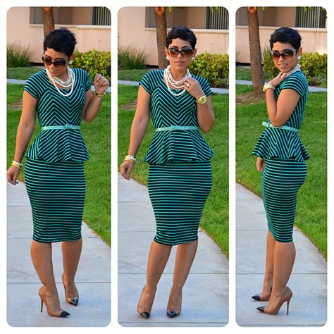 diy striped peplum top skirt pattern review m6754 view