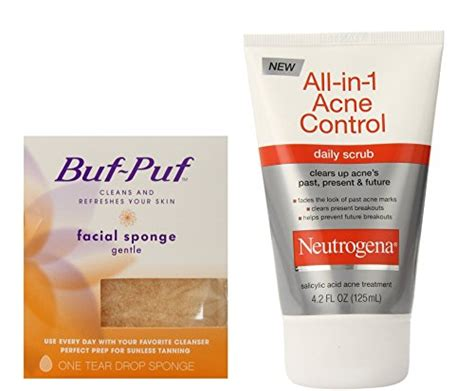 Acne Gentle Scrub buf puf gentle sponge neutrogena all in 1 acne scrub 4 2 oz ebay