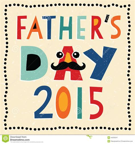 s day 2015 happy fathers day card 2015 with made text stock