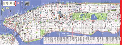 streetsmart nyc midtown manhattan map by vandam laminated pocket sized city map with all attractions museums broadway theaters hotels and subway map 2017 edition books nyc map by vandam nyc midtown streetsmart map city