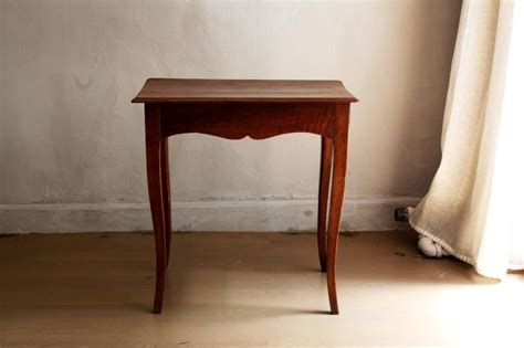 tiny side table louis xv style small walnut side table with curved legs