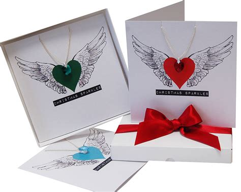 Swarovski Gift Card - swarovski crystal necklace christmas gift card by made with love designs ltd