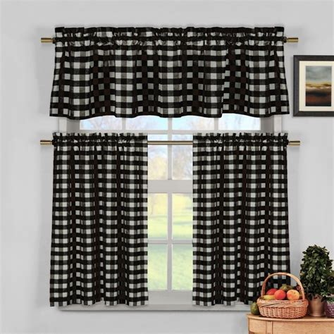 Black And White Kitchen Curtains by Black Kitchen Curtains Www Imgkid The Image Kid