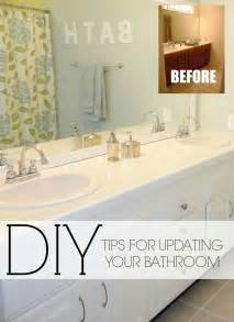 Bathroom Update Ideas Livelovediy Easy Diy Ideas For Updating Your Bathroom