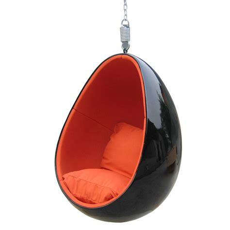 Energy Pod by Eero Aarnio Clear Hanging Egg Chair Mooka Modern
