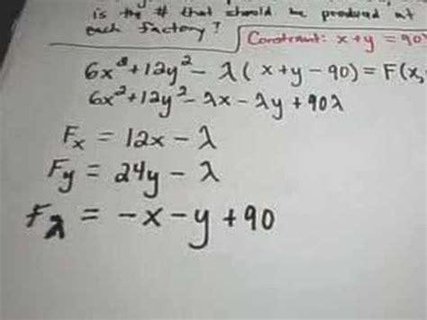 lagrange multipliers finding maximum or minimum values