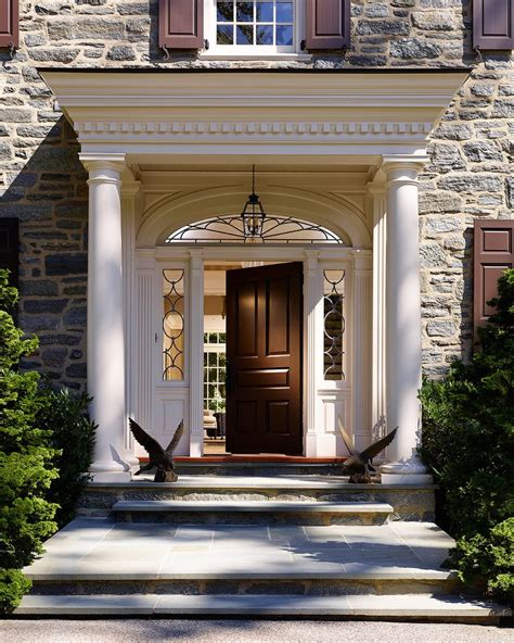 Front Door Columns Covered Front Door Entrances Entry Traditional With Tuscan Style Columns Covered Front Entry