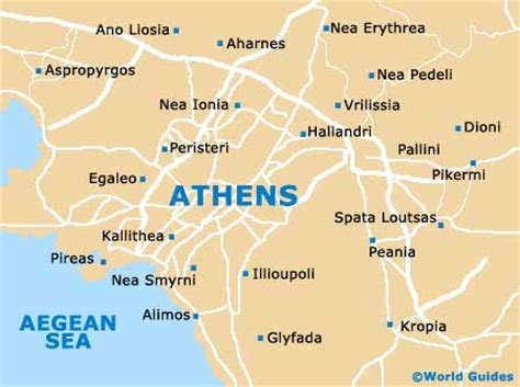 athens on map athens maps and orientation athens attica greece