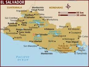 Central America Map El Salvador by Greenfieldgeography Igcse And Gcse Tourism