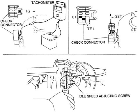 Toyota Idle Speed Valve Iscv Connector Soket repair guides routine maintenance and tune up idle speed and mixture adjustment autozone