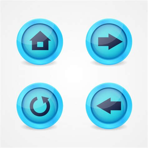 imagenes de botones web gratis botones multimedia descargar vectores gratis