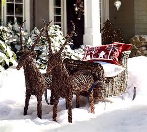 Rattan reindeer for outdoor christmas decorating picture
