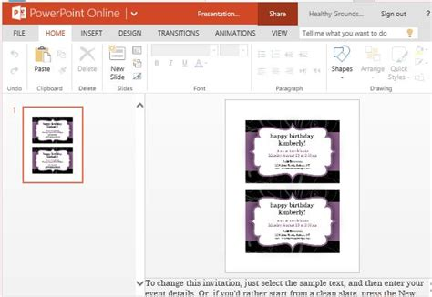 Party Invitation Templates For Powerpoint Online Powerpoint Invitation Template