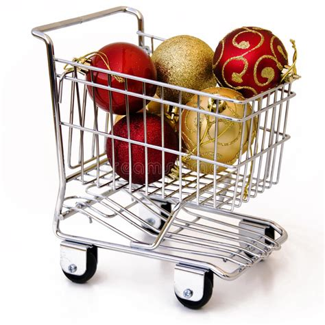 shopping cart ornament tree ornament in shopping cart stock photo