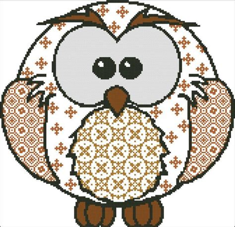 Patchwork Owl - owl patchwork hooties owls cross stitch patterns