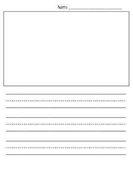This Quot Show And Tell Quot Writing Paper Template Provides Kindergarteners With A Lined Writing Area Free Will Writing Template