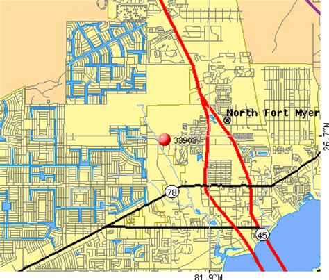 zip code map fort myers fort myers map with zip codes images