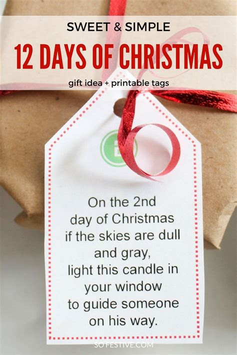 12 days of christmas gifts poems easy 12 days of idea printables inexpensive gift poem and gifts