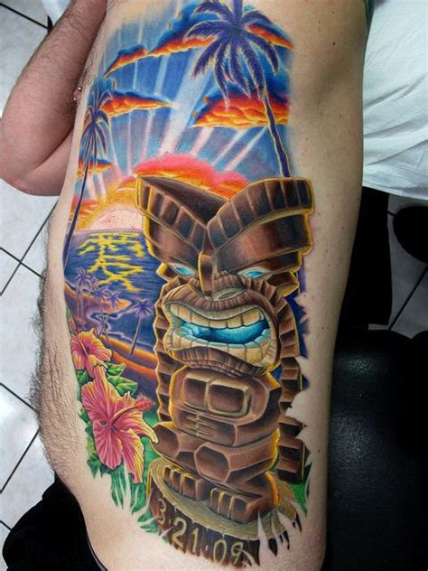 tribal sunset tattoo hawaiian tiki tattoos roy hawaii tiki sunset pretty in