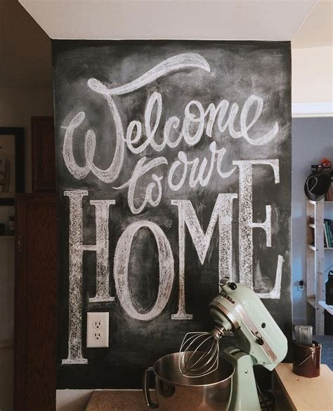 chalkboard kitchen wall ideas welcome to our first house together after 6 months of