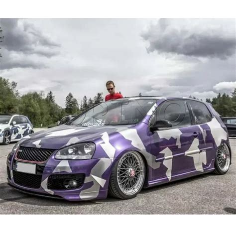 Camouflage Folie Gelb by 5 Rolls Lot 1 52 30m Purple White Camo Car Wrapping