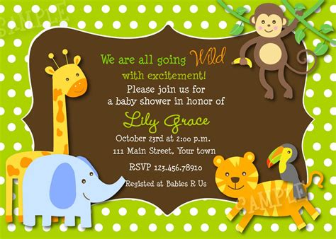 safari animals baby shower invitations theruntime
