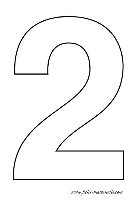 best photos of number 2 template printables number 2