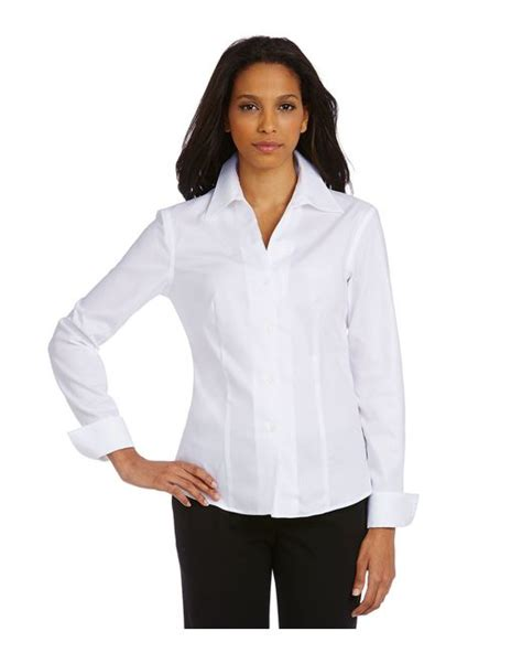 Calvin Klein Blouses At Dillards by Calvin Klein Wrinkle Free Pinpoint Oxford Blouse In White