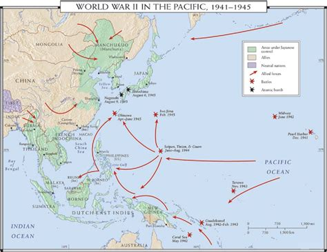 pacific war map world war ii pacific battles of the pacific 1941 1945
