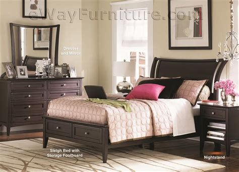 newport beach full sleigh storage bedroom set