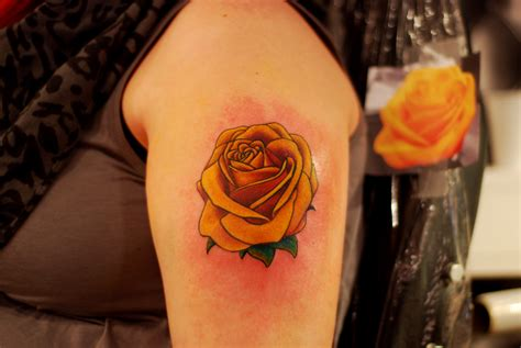 black and yellow rose tattoo 28 best yellow tattoos