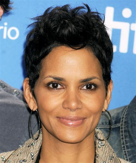 back view of halle berry hair halle berry short straight casual hairstyle
