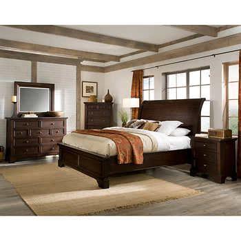 costco king bedroom set telluride 6 piece king bedroom set