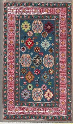 Petit Point Area Rugs by Doll House Miniature Needlepoint Petit Point Area Rug