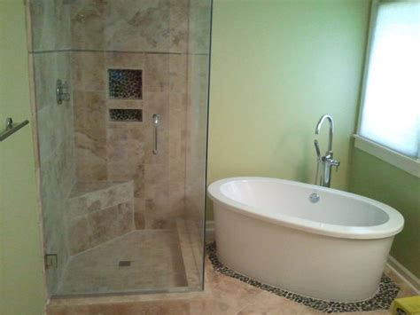 bathtubs and showers shower and stand alone tub