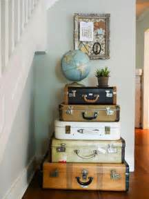 Retro Home Decor Ideas vintage furniture made of old suitcases room decorating