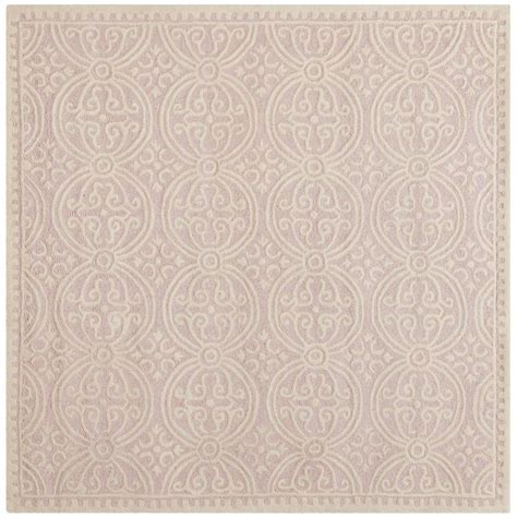 6 foot square rug safavieh cambridge light pink ivory 6 ft x 6 ft square area rug cam123m 6sq the home depot