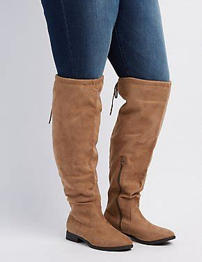 wide moto boots wide calf boots knee high moto russe