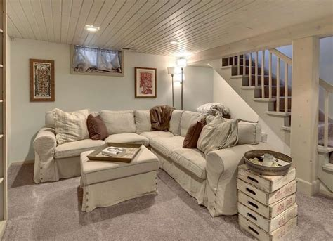 painted wood plank ceiling basement ceiling ideas