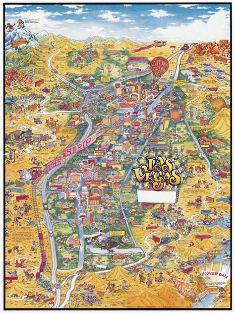 where is las vegas in usa on map large detailed tourist illustrated map of las vegas las