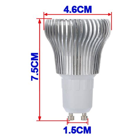 High Wattage Led Light Bulbs Buy Gu10 6w 3 Led White High Power Led Spot Light L Bulb 110 240v Bazaargadgets