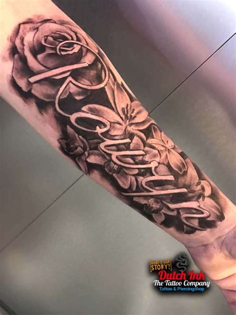 naam tattoo voorbeelden laat je inspireren door dutch ink
