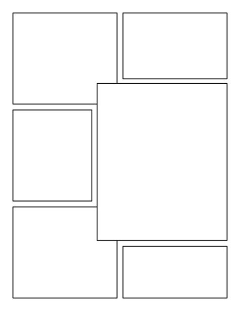 comic book layout template blank comic book panels grid comic books